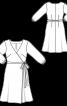 Сукня відрізна із запахом і рукавами 3/4 - фото 3