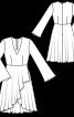 Сукня приталеного крою з рукавами-розтрубами - фото 3