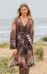 Сукня приталеного крою з рукавами-розтрубами - фото 4
