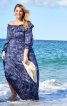 Сукня максі з вирізом кармен  - фото 1