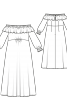 Сукня максі з вирізом кармен  - фото 3