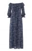 Сукня максі з вирізом кармен  - фото 2