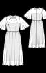 Сукня двошарова з рукавами-крильцями - фото 3
