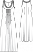 Сукня максі шифонова - фото 3