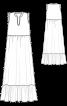 Сукня максі з широкою оборкою - фото 3