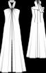Сукня максі батистова з бретеллю-петлею - фото 3