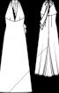 Сукня максі з глибоким декольте і відкритими плечима - фото 3