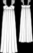 Сукня-масі силуету ампір з декором на бретелях - фото 3