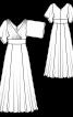 Сукня максі силуету ампір з ефектом запаху - фото 3