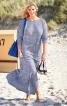 Сукня довга трикотажна з розрізом - фото 1