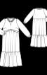 Сукня силуету ампір з оборками і рюшами - фото 3