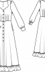 Сукня-максі з вирізом-сердечком - фото 3
