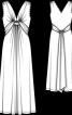 Сукня довга з переплетеними зав'язками - фото 3