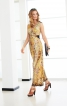 Сукня довга з переплетеними зав'язками - фото 1