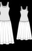 Сукня з трикотажним верхом і довгою спідницею - фото 3