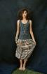 Сукня з трикотажним верхом і довгою спідницею - фото 1