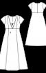 Сукня максі відрізна розкльошеного крою - фото 3