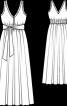 Сукня максі з глибоким вирізом і завищеною талією - фото 3