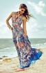 Довга сукня з пластроном - фото 1