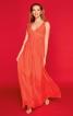 Сукня максі з глибоким декольте і складками - фото 1