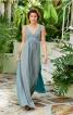 Сукня максі з широкою спідницею з клинами годе - фото 1