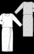 Сукня трикотажна із спідницею з запахом - фото 3