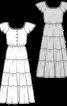 Сукня довга з рукавами крильцями - фото 3
