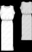 Сукня максі трикотажна з оригінальним ліфом - фото 3