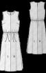 Сукня максі двокольорова - фото 3