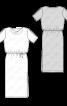 Сукня трикотажна з розрізами на рукавах - фото 3