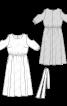 Сукня довга з вирізами на рукавах - фото 3