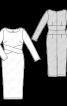 Сукня довга з фігурним вшивним поясом - фото 3