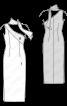 Сукня вечірня з рельєфною деталлю і шарфом - фото 3
