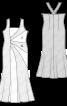 Сукня вечірня з рельєфними деталями крою - фото 3
