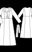 Сукня максі приталеного крою - фото 3