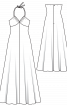 Сукня максі в стилі 70-х на бретелях - фото 3