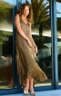 Сукня в стилі 70-х з асиметричним низом - фото 1