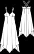 Сукня в стилі 70-х з асиметричним низом - фото 3