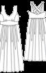 Сарафан довгий з переплетеними на спині бретелями - фото 3