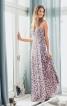 Сукня максі відрізна з запахом і на бретелях - фото 1