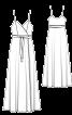 Сукня максі відрізна з запахом і на бретелях - фото 3