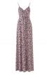 Сукня максі відрізна з запахом і на бретелях - фото 2