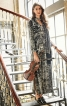 Сукня максі з розрізом і  шарфом - фото 1