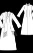 Сукня максі з розрізом і  шарфом - фото 3