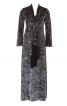 Сукня максі з розрізом і  шарфом - фото 2
