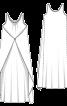 Сукня максі простора оригінального крою - фото 3