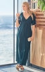 Сукня максі силуету ампір з драпіровками - фото 1