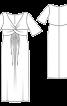 Сукня максі силуету ампір з драпіровками - фото 3