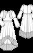 Сукня з пишною асиметричною спідницею - фото 3