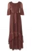 Сукня з оборками плісе і максі-спідницею - фото 2